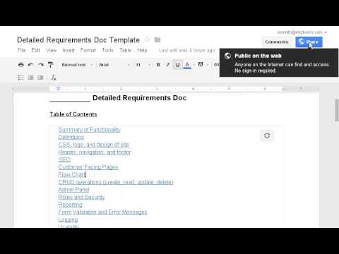 Hiring Freelance Web Developers - Start with a Detailed Requirements Doc
