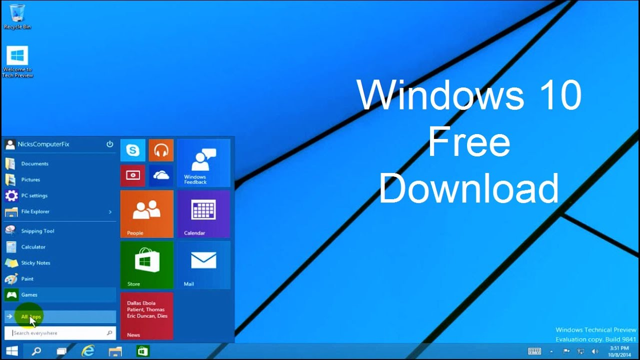 Windows  Download Free Easy Windows Technical Preview Youtube