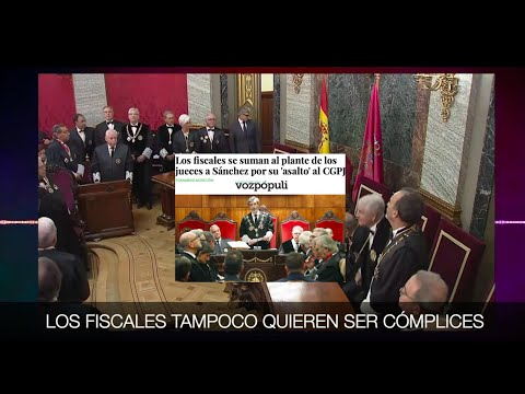 ¡LOS FISCALES SE SUMAN A LA REBELIÓN CONTRA EL PUCHERAZO JUDICIAL DE SÁNCHEZ!
