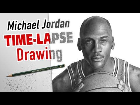 Michael Jordan Drawing Time-Lapse