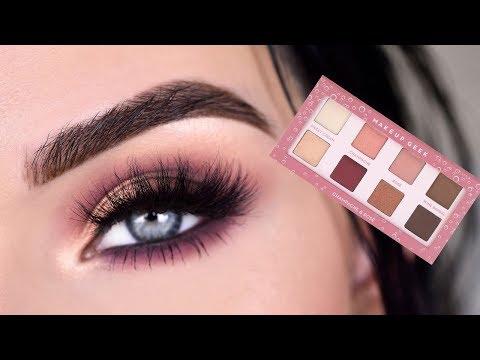 NEW Makeup Geek Champagne & Rose Palette + Retractable Eyeliners | Eye Makeup Tutorial