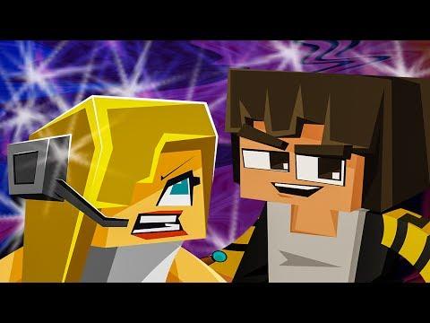 """NEW MINECRAFT SONG: Hacker 4 """"Hacker VS Psycho Girl"""" Minecraft Songs and Minecraft Animation"""
