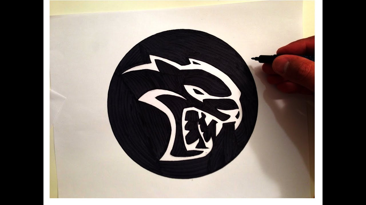 How to draw the hellcat logo youtube ditch the ads buycottarizona
