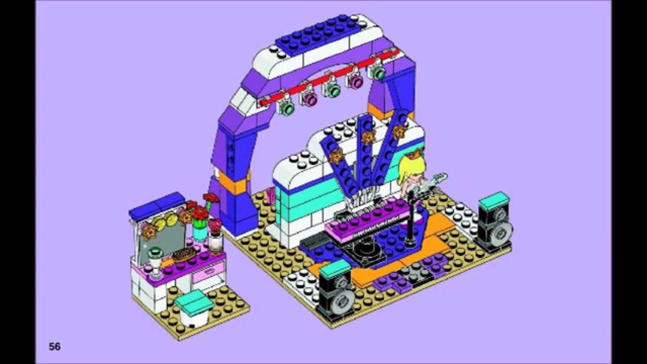Lego Friends 41004 Rehearsal Stage Building Instructions Youtube