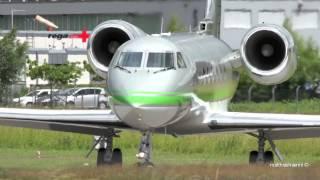 gulfstream aerospace g iv vq bmt take off at airport bern belp