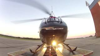BK117 - Twin Engine Helicopter - HEMS - Startup, Departure, Timelapse into night