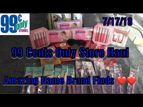 Huge 99 Cents Only Store Haul 7 17 18 ALL Name Brand Items Johnson Finds More