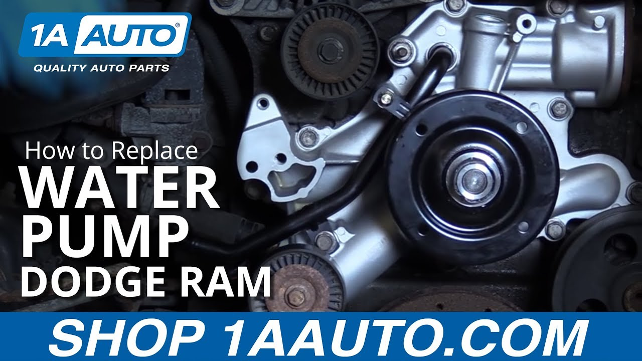 How to Replace Water Pump 0308 Dodge Ram  YouTube