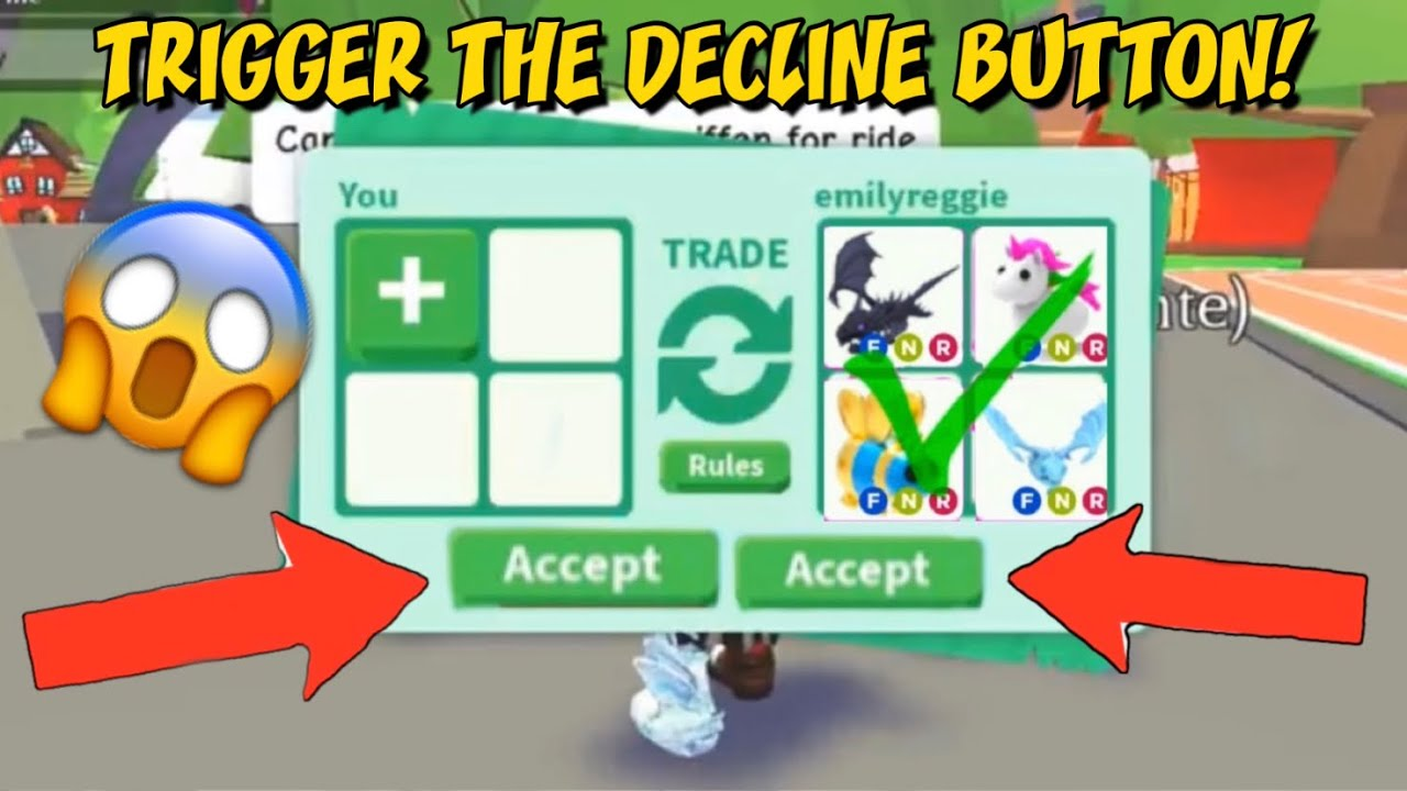 Roblox Adopt Me Tutorial Get Robux Button How To Trigger Someone S Decline Button In Adopt Me Youtube