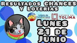RESULTADOS Loterias Lunes 21 de junio de 2021 Loteria de CUNDINAMARCA y TOLIMA