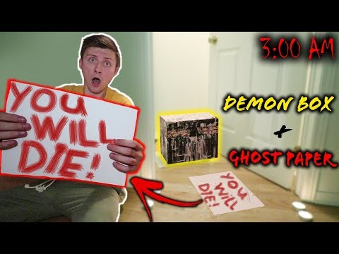 *SCARY* PLAYING THE GHOST PAPER CHALLENGE WITH THE DYBBUK BOX (DOOR OPENED!!)