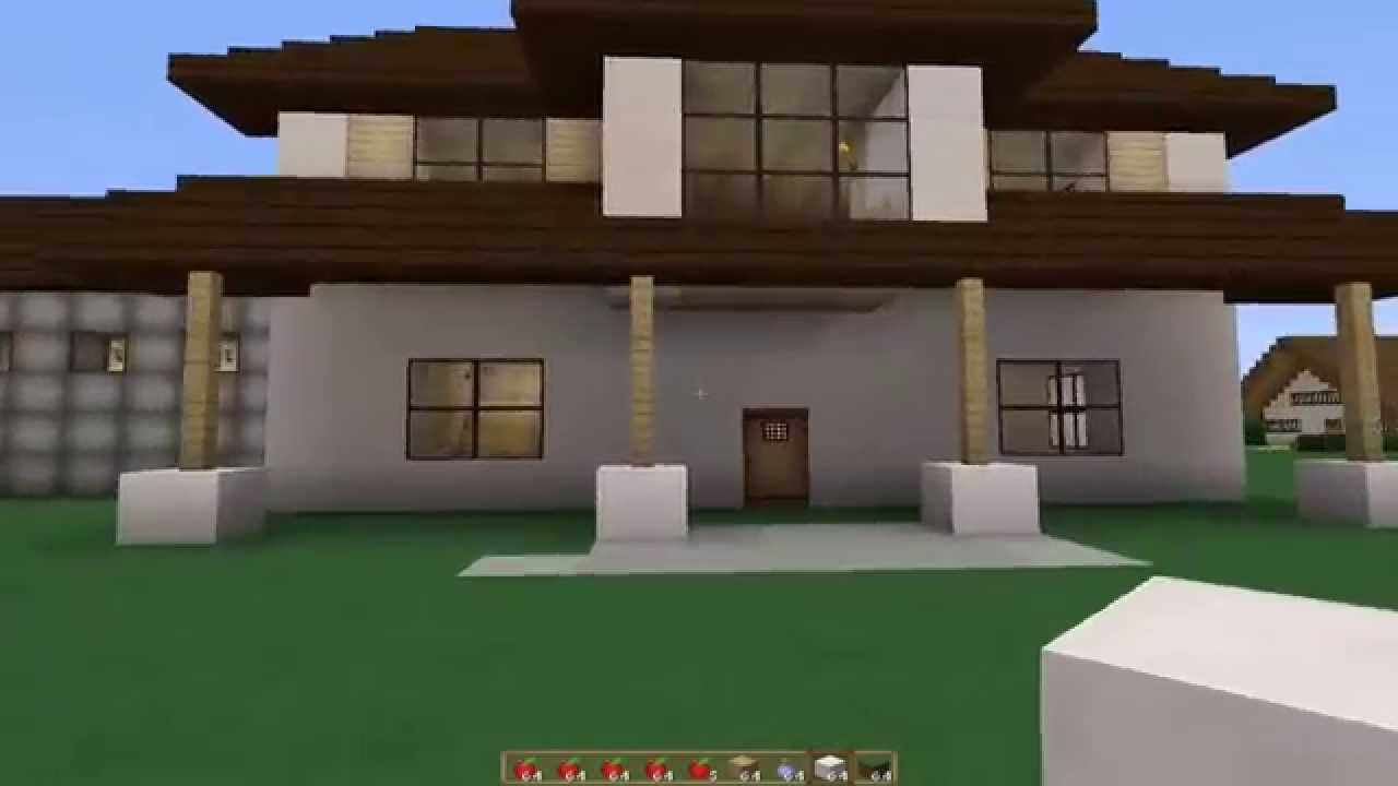 Minecraft reparando mi casa moderna 4 como la de for Casa moderna naga city prices