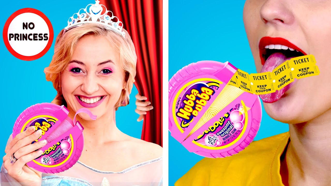 HOW TO SNEAK DISNEY PRINCESSES INTO THE MOVIES! Sneak Anything Anywhere by Crafty Panda