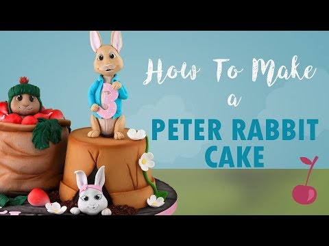 Peter Rabbit And Benjamin Bunny Cake Tutorial | How To | Cherry School
