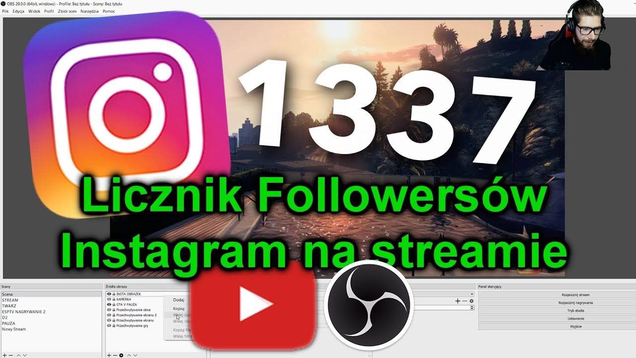 instagram live pc obs