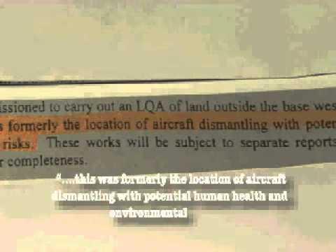 Radioactive contamination RAF Kinloss a BBC News Report