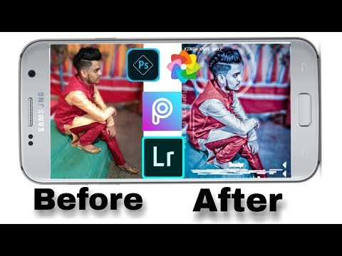 How New Effect In Android Phone Editing|| Blur Background Orange And Blue|| Sk Sohaileditz