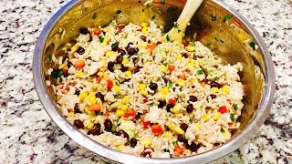 How to make a southwestern rice bowl