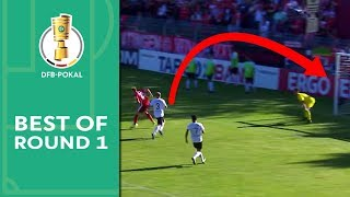 Hennings' heel lob & Alcacer's insane free kick | Best of DFB Cup 1st Round