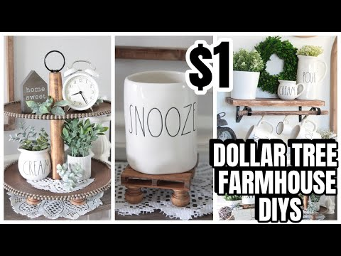 DOLLAR TREE KIRKLANDS DUPE DIYS FARMHOUSE DECOR