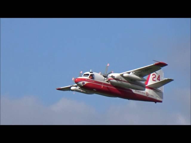 Sécurité Civile Canadair CL-415 - Tracker - EC-145 - La Ferté Alais Air Show 2016