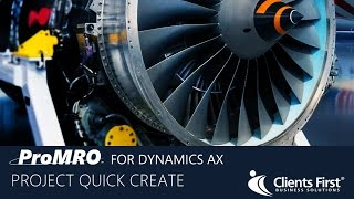 Dynamics AX ProMRO Modul Projekt Schnell Erstellen