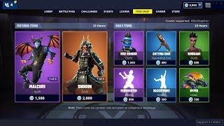 SHOGUN SKIN + BACKSTROKE EMOTE: Fortnite Item Shop