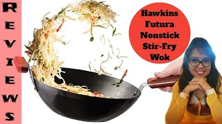 Hawkins Futura Non-Stick Stir-Fry Wok Pan With Lid Reviews and Unboxing Amazon Purchase