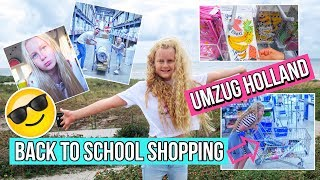 BACK TO SCHOOL SHOPPING 2018 📚 HOLLAND UMZUG MaVie Vlog