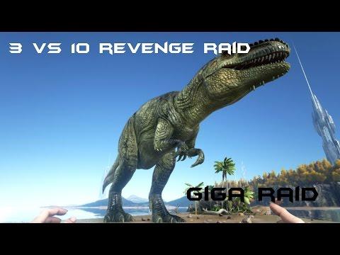3 vs 10 Online Revenge Raid I Ark Survival Evolved I Xbox One