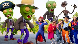 Scary Teacher 3D In Real Life : Nick Superman  VS Team Zombie rescue Tani Miss T, Francis, Neighbor