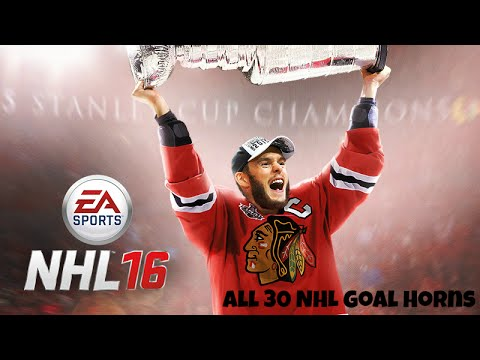 NHL 16 – All 30 Goal Horns and Songs (no crowd or commentary volume)