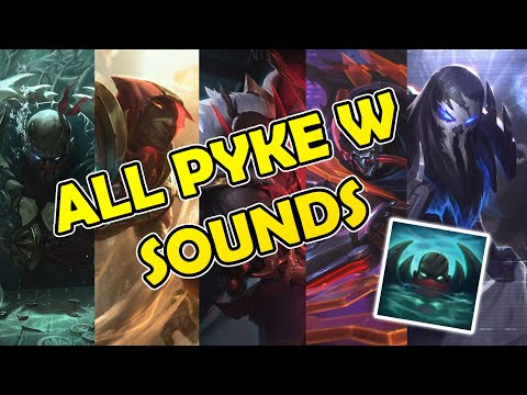Pyke W Sounds From Enemy Pov (All skins)
