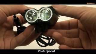 Светодиодная велосипедная фара + налобный фонарик