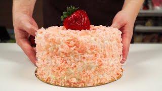 Нежнейший ТОРТ С ОСОБЕННОЙ КЛУБНИКОЙ | Strawberry cake