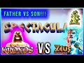 Father Vs Son BATTLE ROYAL!!! Kronos vs Zeus Slot Machine!! BIG WIN