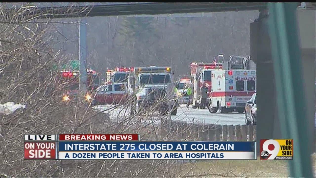 I-275 shut down after multiple-vehicle crash