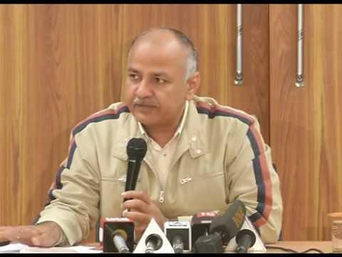 DY CM Manish Sisodia's Press Conference.