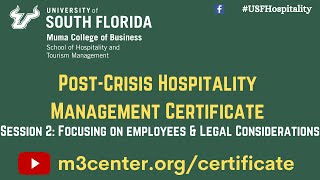 Post-Crisis Hospitality Management Certificate- Session 2