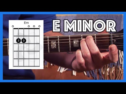 How to play E Minor Chord On Guitar (Em) Justin Guitar Beginner Lesson 2 Tutorial [B1-302]
