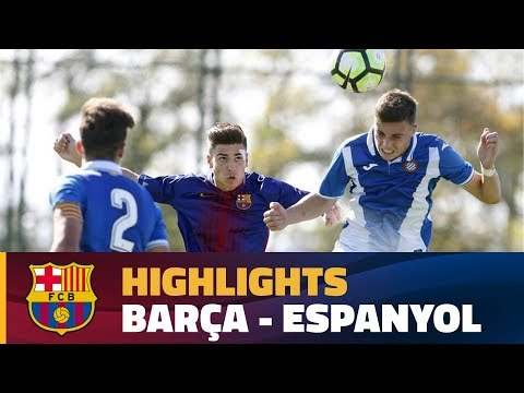 [HIGHLIGHTS] FUTBOL (Juvenil A): FC Barcelona - Espanyol (1-1)