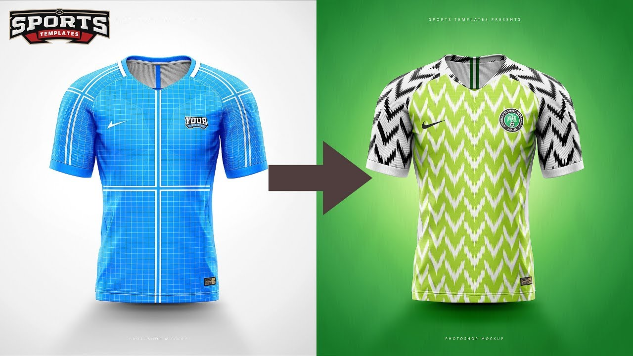 63155bcf2 Designing Nigeria s World Cup 2018 jersey kit Speed Art - YouTube