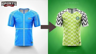 Designing Nigeria's World Cup 2018 jersey kit Speed Art