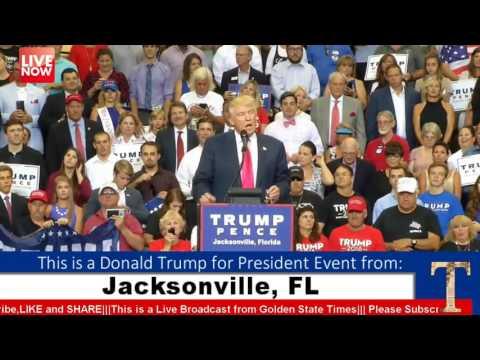 AMAZING:Donald Trump Rally from Jacksonville, FL (8-3-16)