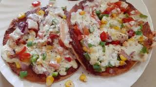 5 minutes pizza recipe with batter  II pizza base at home II how to ma