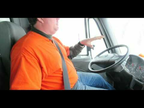 View from the snowplow drivers seat in Fond du Lac, Wi.