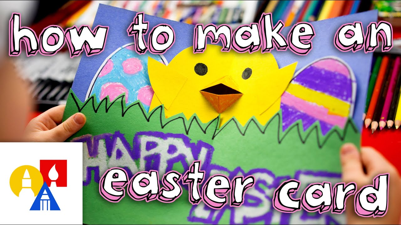 How To Make A Pop Up Easter Card YouTube – Easter Cards for Kids