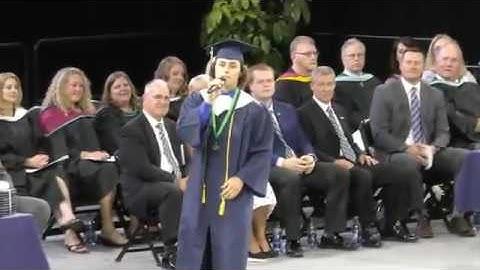"Student ( JonPaul "" JP "" Wallace )  Sings "" 7 Years Old ""  At His Graduation"