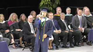 """Student Sings """" 7 Years Old """"  At His Graduation"""