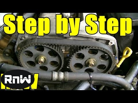 Kia Spectra Timing Belt Replacement - 18L DOHC Engine Part 1 - YouTube